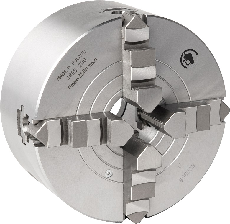4-čelistní kombinované sklíčidlo ocelové typu 4805
