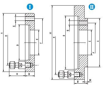 Mezipříruba typ 8237 - DIN 55027 - pro lícní desky 4306; 4307