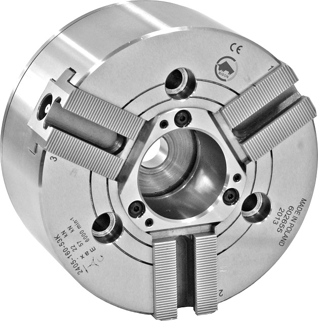 Silové sklíčidlo typ 2405K ZW (1,5x60°); zvětšený průchozí otvor