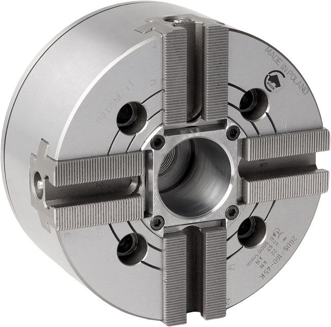 Silové sklíčidlo typ 2605K (1,5x60°); 4-čelistní