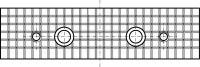 čelistní vložky vroubkované WSZN pro svěrák typu 6620; 6820 - sada