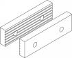 Čelistní vložky hladké a vroubkované oboustrané pro svěrák 6517 - sada