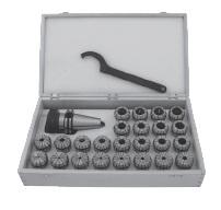 Kleštinový upínač pro kleštiny ER; DIN 69871; (typ 7617) - Sada s kleštinami a klíčem