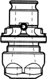 Vložky bez prokluzové spojky ER DIN 6499