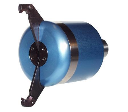 Potahovač materiálu ovládaný tlakem chladiva 2-čelistní