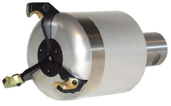 Potahovač materiálu ovládaný tlakem chladiva 3-čelistní; SMALL