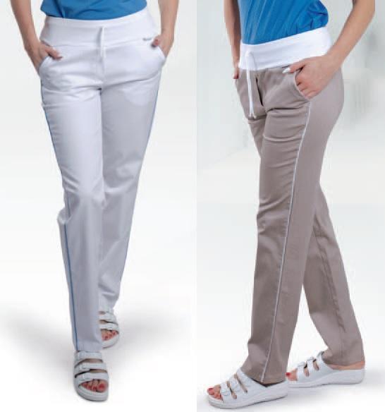 2418 kalhoty VIOLA, lososová + bílá výpustka