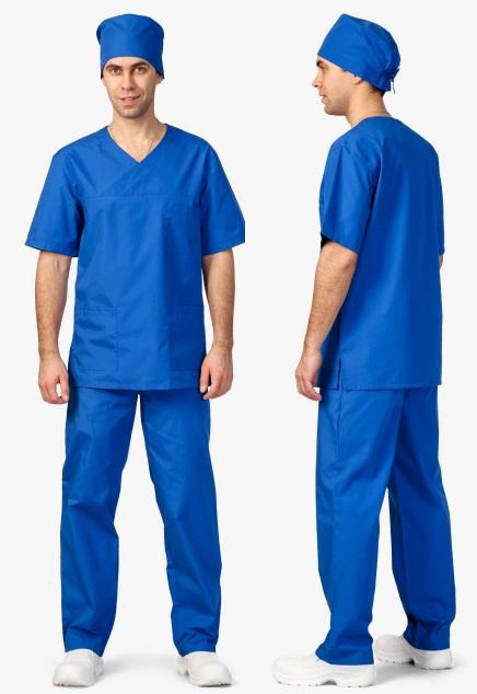 3.373 komplet pánský chirurgický, modrý