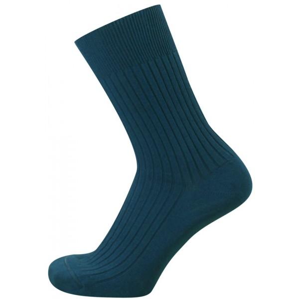 KNITVA ponožky FAJAN, džínově modré