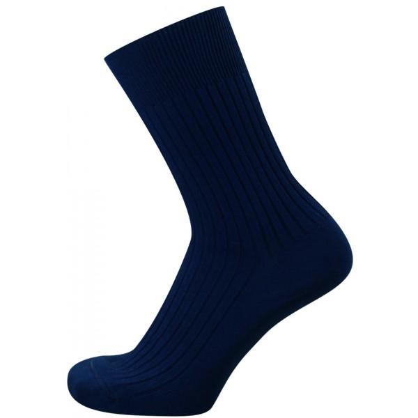KNITVA ponožky FAJAN, tmavě modré
