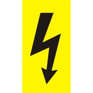 Žlutá fólie - černý blesk