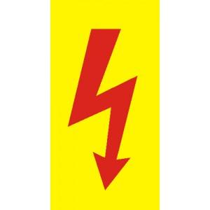 Žlutá fólie - červený blesk