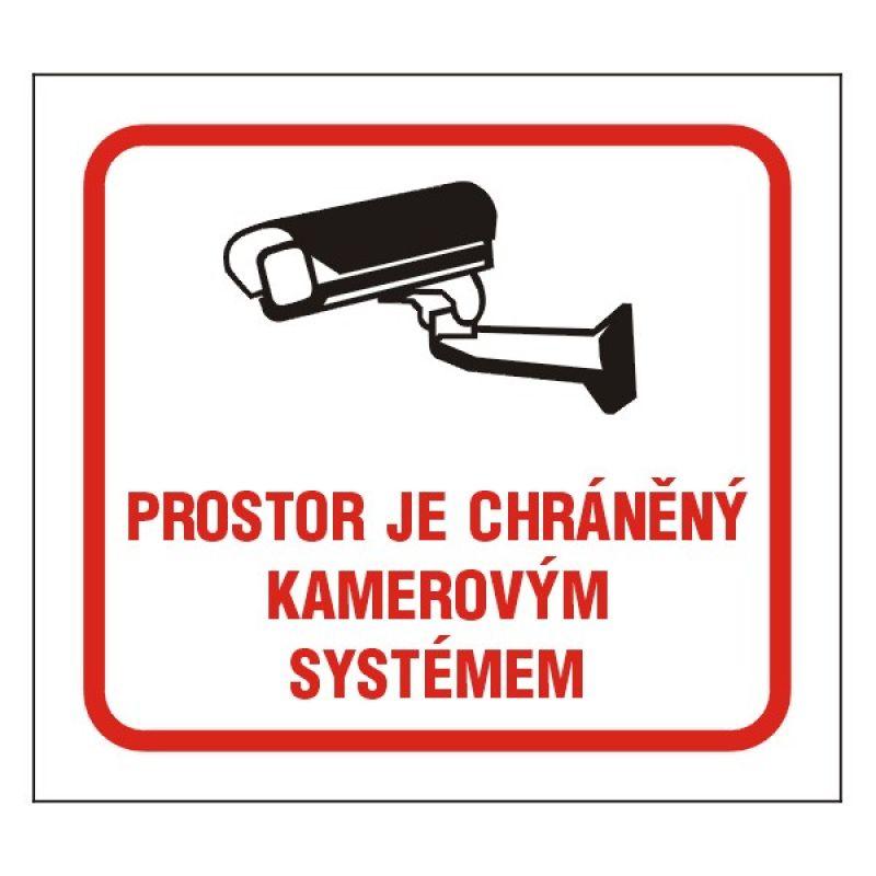 Prostor je chráněný kamerovým systémem