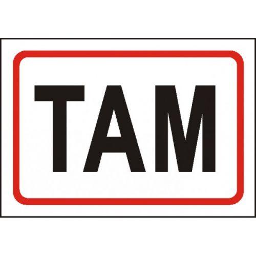TAM (text k označení dveří)