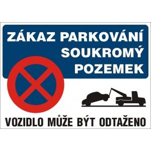 Zákaz parkování-soukromý pozemek