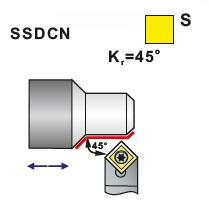 Nože soustružnické SSDCN