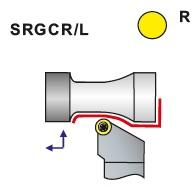 Nože soustružnické SRGCR, SRGCL