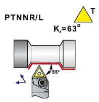 Soustružnické nože PTNNR, PTNNL