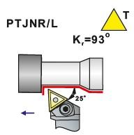 Soustružnické nože PTJNR, PTJNL