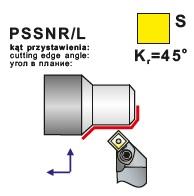 Soustružnické nože PSSNR, PSSNL