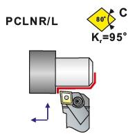 Soustružnické nože PCLNR, PCLNL