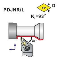 Soustružnické nože PDJNR, PDJNL