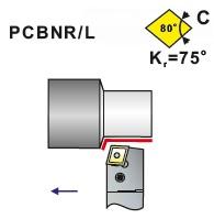 Soustružnické nože PCBNR, PCBNL -K