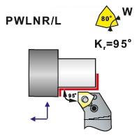 Soustružnické nože PWLNR, PWLNL -K