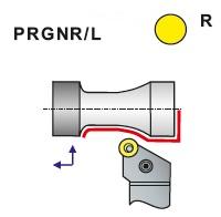 Soustružnické nože PRGNR, PRGNL -K