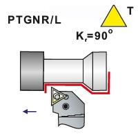 Soustružnické nože PTGNR, PTGNL -K