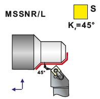 Soustružnické nože MSSNR, MSSNL