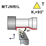 Soustružnické nože MTJNR, MTJNL