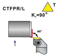 Soustružnické nože CTFPR, CTFPL
