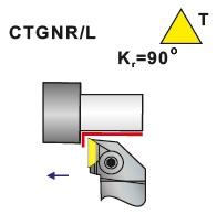 Soustružnické nože CTGNR, CTGNL