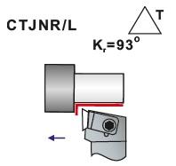 Soustružnické nože CTJNR, CTJNL- L