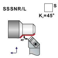 Soustružnické nože SSSNR, SSSNL- L