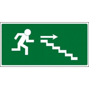 Únikové schodiště vpravo dolů