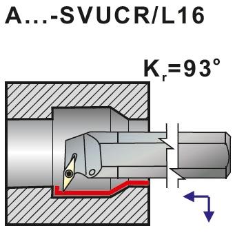 Nože soustružnické s vnitřním chlazením A..-SVUCR, SVUCL