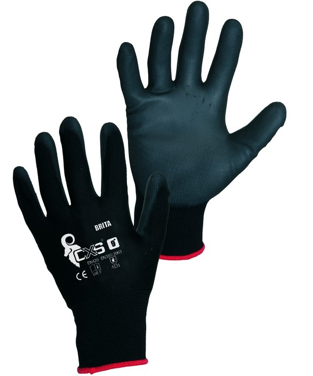 CXS BRITA BLACK rukavice máčené