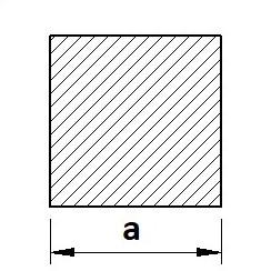 Tyč čtvercová válcovaná S235JR (11375) - běžná konstrukční ocel
