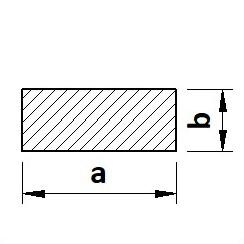 Tyč plochá tažená na klíny C45 (12050)