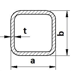 Profil uzavřený S235JR (11375) běžná konstrukční ocel