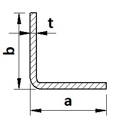 Tyč L tenkostěnná