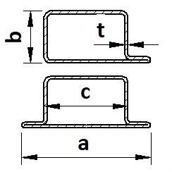 """Profily uzavřené tvarové """"L"""" a """"T"""""""