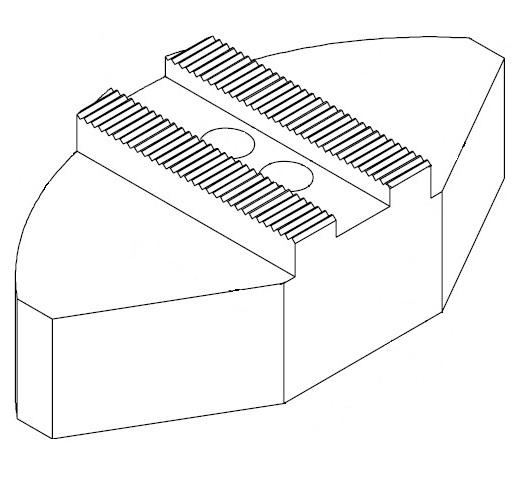 """Čelisti měkké segmentové 3/32""""x90°, šířka drážky 25,5 mm (sklíčidla pr. 400-630 mm)"""