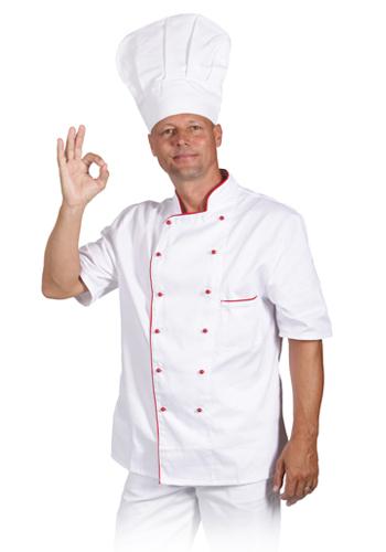 TRADETEX 0416 rondon bílý & modrý lem, krátký rukáv
