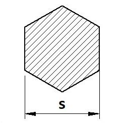 Tyč šestihranná 42CrMo4+QT