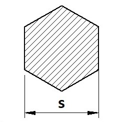 Tyč šestihranná S235JR+C
