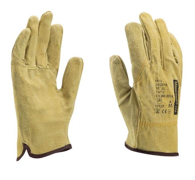 PETE rukavice kožené