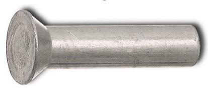 Nýty se zápustnou hlavou DIN 661 hliníkové